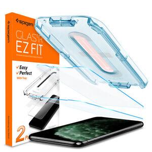iPhone 11 Pro X XS XS Max 11 Pro Max XR 11 Glass Screen Protector Spigen (2PK)