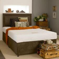 Suede Medium Beds with Mattresses