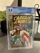 CAPTAIN AMERICA #117 CGC 3.5 ORIGIN/1ST APP FALCON