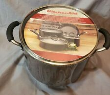 KitchenAid 8-qt. Covered Stockpot Porcelain Nonstick with Lid - Black