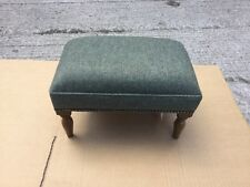 Footstool upholstered in a top quality green fabric