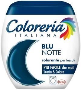 Colorante per tessuti colore Blu notte, Colorazione direttamente in lavatrice