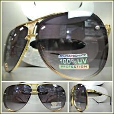 Men's or Women CLASSIC VINTAGE RETRO Style SUN GLASSES Unique Gold Metal Frame
