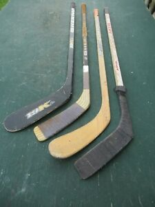 Vintage 4 Wooden  Hockey Sticks Stick  ARTIS  SHER-WOOD