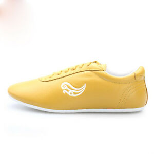 Top quality Tai chi chuan Martial arts Kung Fu Wing chun Soft Cow leather shoes