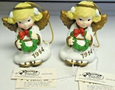 2 Vintage1994 The San Francisco Music Box Co. Angel Ornaments