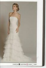 Jadore Gown Dress - Strapless - Formal, Wedding, Ivory Dusty Pink, Charcoal