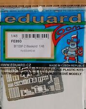 Eduard 1/48 FE893 Colour Zoom etch for the Eduard Messerschmitt Bf109F-2  kit