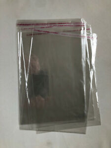 Clear C5 Cellophane Cello Bag self seal adhesive strip for sweets, cookies, card