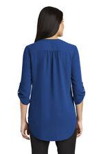 Port Authority® Ladies 3/4-Sleeve Tunic Blouse True Blue Color