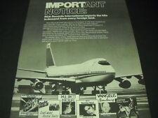 Ducks Deluxe The Scorpions Paul Brett Vangelis others 1978 Promo Poster Ad mint