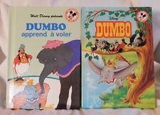 2 Similar Disney Dumbo French Hc Picture Books Circus Elephant 1991 & 1997