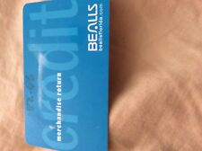 BEALLS Dept store Credit or Merchandise Card With $82.66. Does not expires