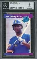 1989 donruss #33 KEN GRIFFEY JR seattle mariners rookie card BGS 9 (8.5 9 9.5 9)