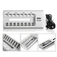 EBL 8 Slot Rapid Batteries Charger For AA/AAA/Ni-MH/Ni-CD Rechargeable Battery