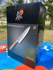 Miyabi Birchwood SG2 7 Piece Knive Block Set BNIB
