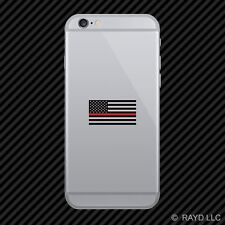 Thin Red Line Subdued American Flag Cell Phone Sticker Mobile Firefighter EMT