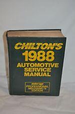 1988 Chilton's AUTOMOTIVE SERVICE MANUAL hb BOOK  PROFESSIONAL MECHANICS EDITION