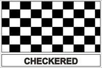 Autocollant sticker drapeau  damier checkered