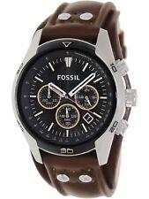 Fossil Men's Coachman CH2891 Brown Leather Japanese Quartz Fashion Watch