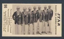 1932 LOS ANGELES Olympic Games Team CZECHOSLOVAKIA Collector CARD very RARE