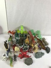 Lot of 34 Safari Dinosaur Figures Accessories Toys Dinosaurs All Types and Sizes