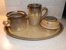 DENBY LANGLEY CHINA ROMONY BROWN 4 MISC PIECES