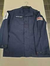 Genuine Royal Navy PCS Combat Shirt Jacket Warm Weather Navy Blue Military Army