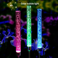 Solar Powered LED Light Acrylic Bubble Light Lawn Lamp RGB  Waterproof Lawn Lamp