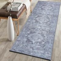 Runner Rug Silver Grey Allover Traditional Persian Vintage Carpet 80x300cm