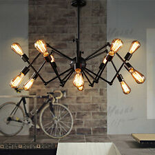 12-Lights Spider Chandelier Vintage Industrial Lamp Edison Pendant Ceiling Light
