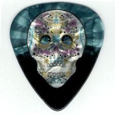 12 Pack Guitar Picks Wicked DAY of DEAD SUGAR Skull Pearl Medium Guitar Pick