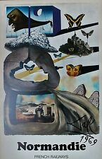 Salvador Dali Lithograph Butterfly Suite French Railway Normandie 1969 Rare