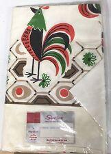 Vintage Printed Tablecloth - Simtex Rooster Daybreak In Pkg