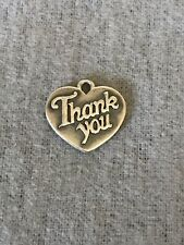 Retired James Avery Sterling Silver Thank You Heart Charm