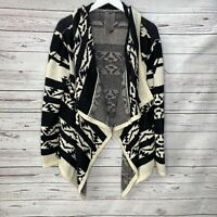 Moon Collection Anthropologie Black Fall Aztec Cardigan Womens L Large Sweater