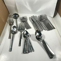 37 Pc Lot of Vintage DORIC Stainless Steel Japan Flatware