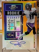 2020 Panini Optic Contenders James Proche Orange Rookie Ticket Auto #/50