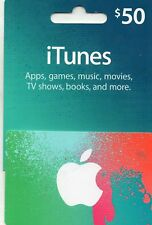 $50 ITUNES GIFT CARD ( UNUSED ) NO EMAIL