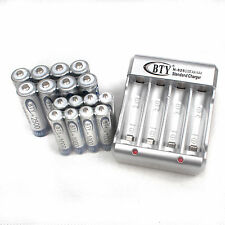 2A 3A BTY Charger with 16AA+AAA 1000mAh 2500mAh 1.2V NI-MH Rechargeable Battery
