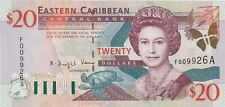 More details for p33a antigua eastern caribbean states twenty dollars banknote in mint condition