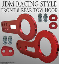 JDM Billet Aluminum Racing Front Rear Tow Hook Kit CNC Anodized Color Red F111