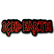 Iced Earth Patch Iron On Music Sew Badge Heavy Metal Band Rock Punk Emblem MC