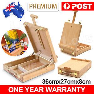 Portable Folding Easel Art Drawing Painting Wood Table Desktop Box Board AU