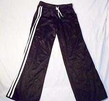 NWT Black Ativa Athletic Pants Relax Black White Stripes Medium 28x29