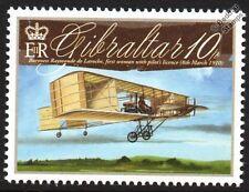 Baronesa Raymonde de Laroche (primera mujer piloto) Voisin Biplano Avión Sello
