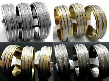 50pcs Star line Silver/Gold Mix Stainless Steel Rings Wholesale Jewelry lots