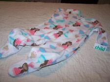 Girls 4T~Blanket Sleeper~White/Play Princess~Child of Mine by Carter's~NWOT
