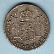 Peru.  1793-IJ 2 Reales.. Lima Mint.. aVF/VF