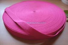 Cotton Polyester Webbing, Belt, Bag, Straps, Hot Pink, 25mm wide, 1 Metre